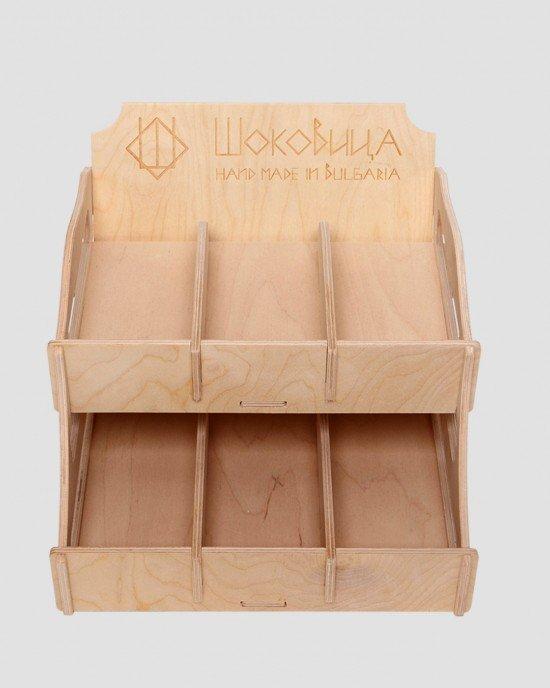Дисплей от дърво за шоколади IDEA3012 - Настолни стелажи