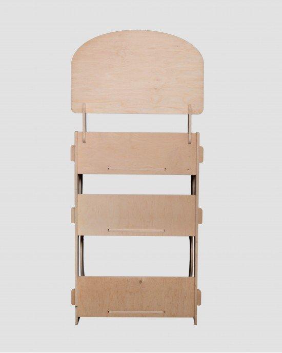 Дървен стелаж за биопродукти IDEA3014 - Настолни стелажи, дисплей за мляко
