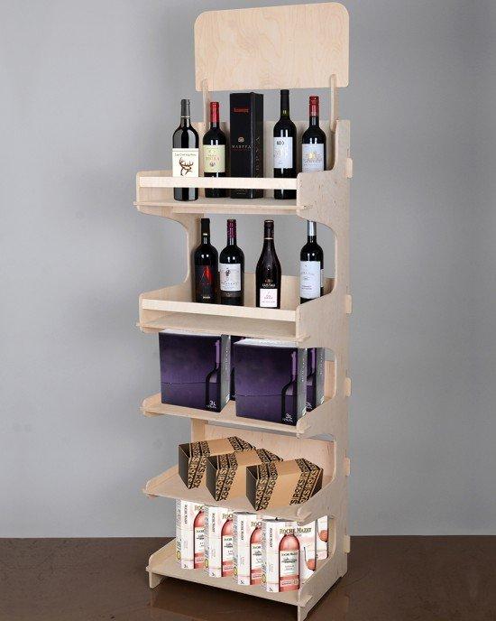 Дървен дисплейза вино IDEA3022 - Стелажи за вино от шперплат