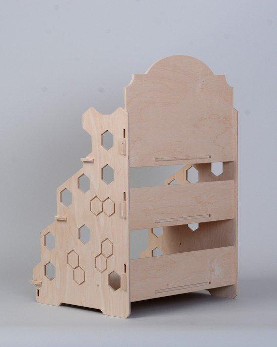 Дървен стелаж за мед IDEA3026 - Настолни стелажи