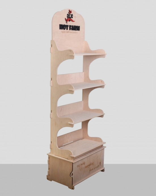 Дървен дисплей IDEA3040 - Стоящи стелажи