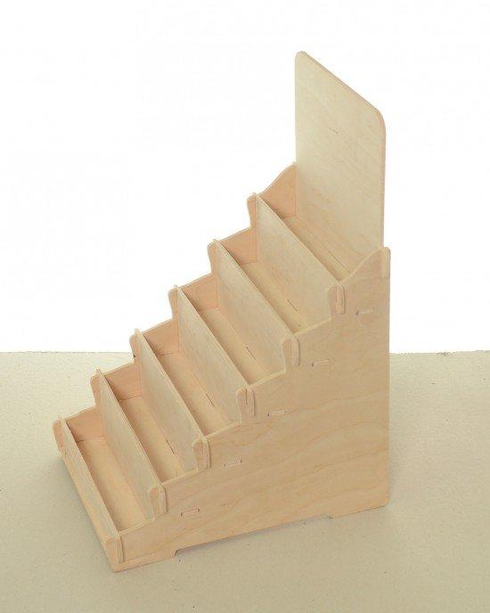 Дървен дисплей IDEA3042 - Настолни стелажи