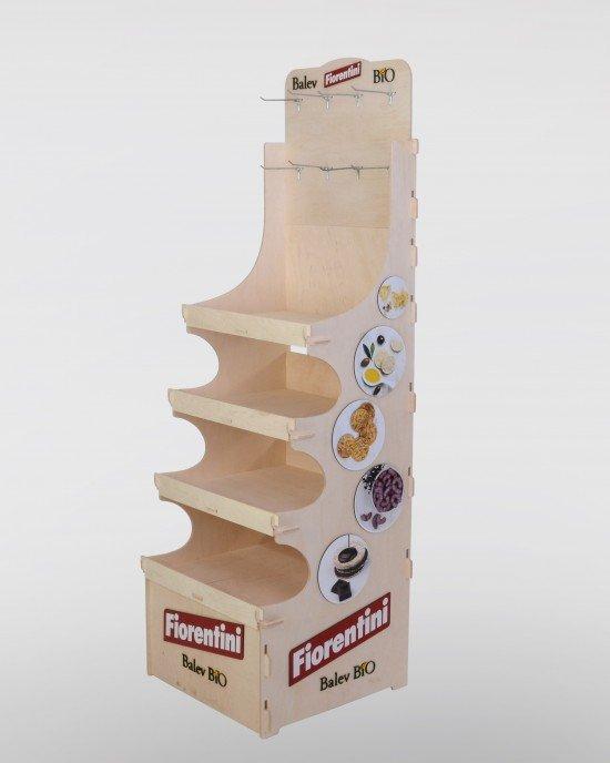 Дървен дисплей за биопродукти IDEA3056 - Стоящи стелажи