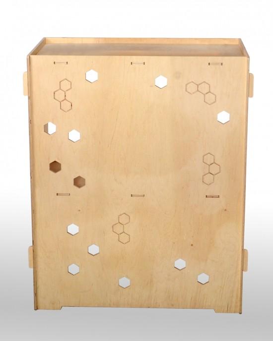Маса за презентации от дърво IDEA3061 - Стоящи стелажи