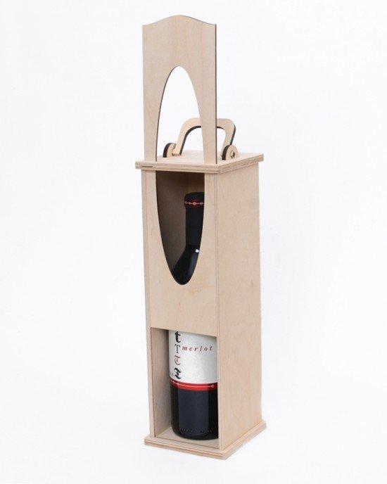 Дървена кутия за вино с плъзгащ капак IDEA1655 - Домашен интериор